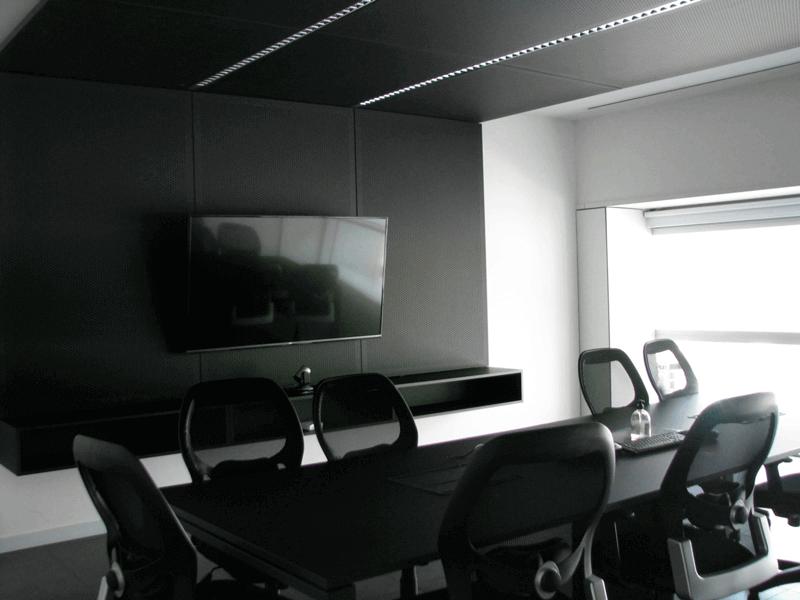 Material innovador para interiorismo - Oficina con techos y paredes de Fenix