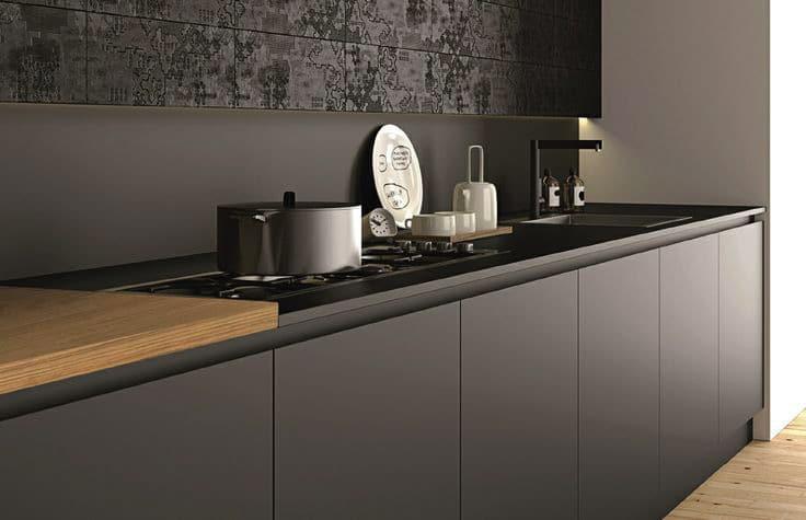 Material innovador para interiorismo - Cocina de Fenix negro