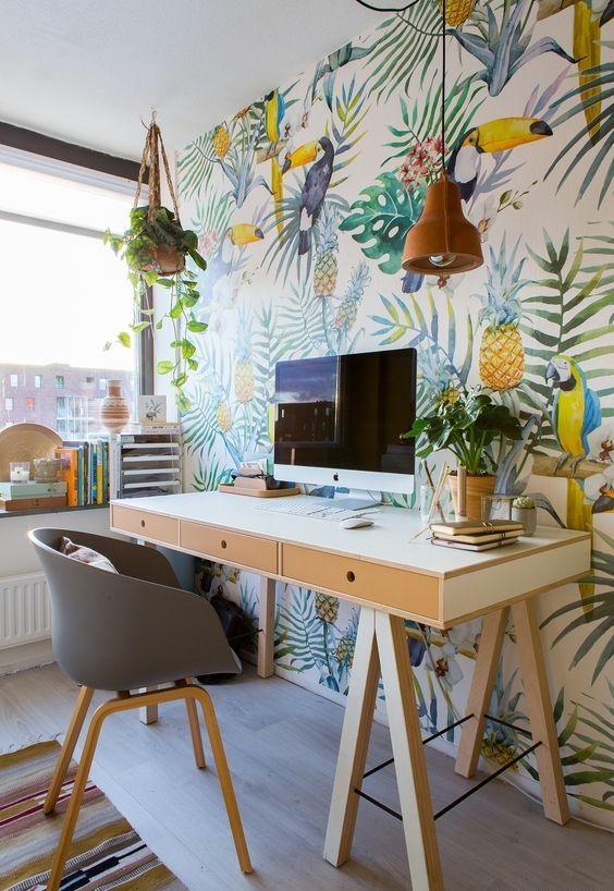 oficina-empapelado-colores