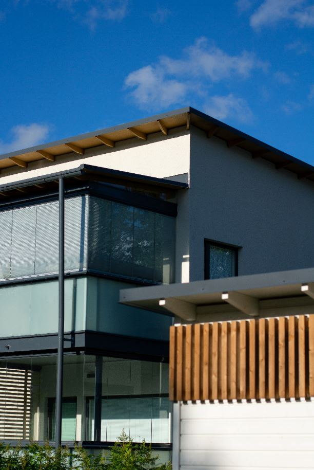 Casa pasiva orientada al sol