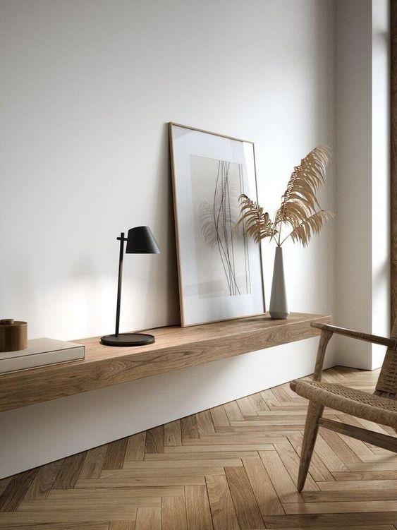 Ejemplo de los elementos decorativos que utiliza el estilo Japandi.
